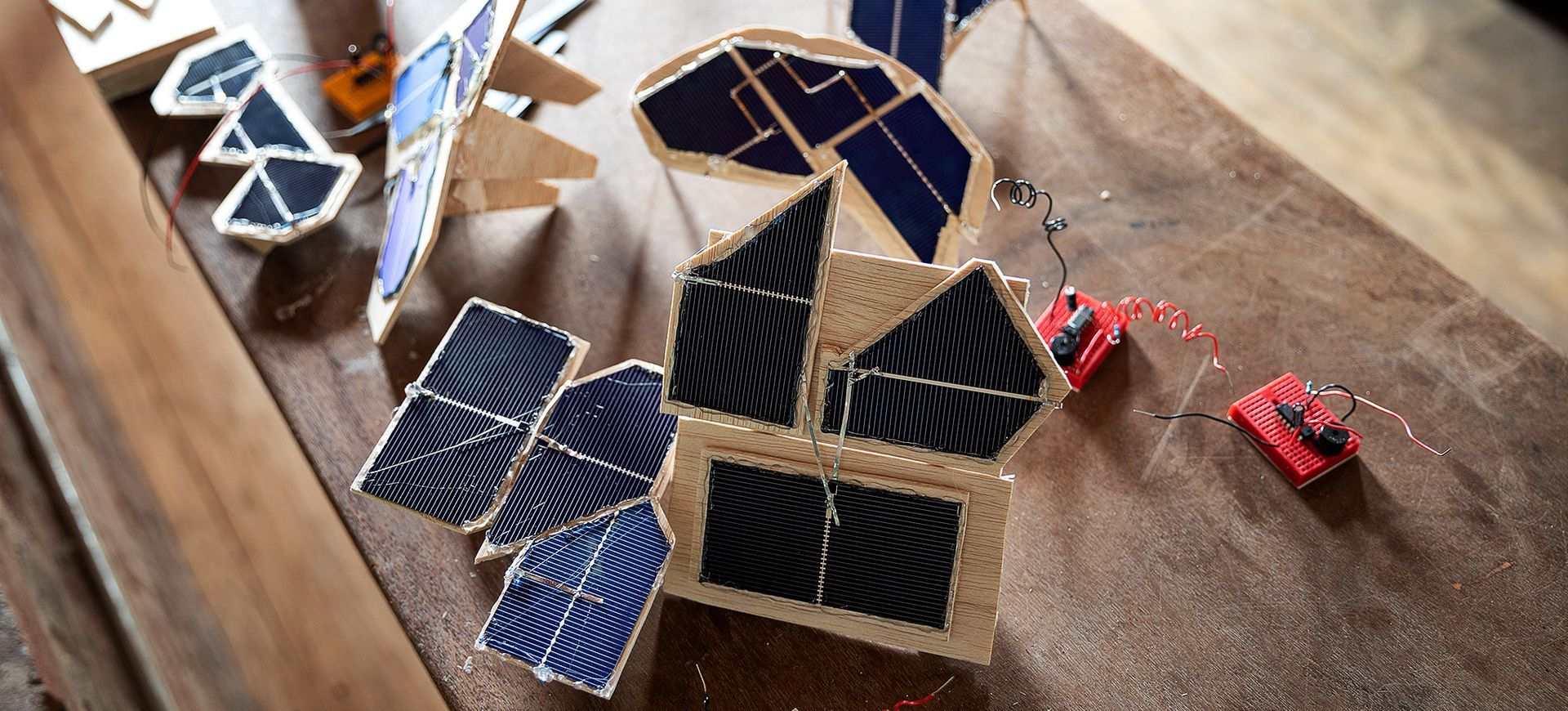 Solar powered robots that move