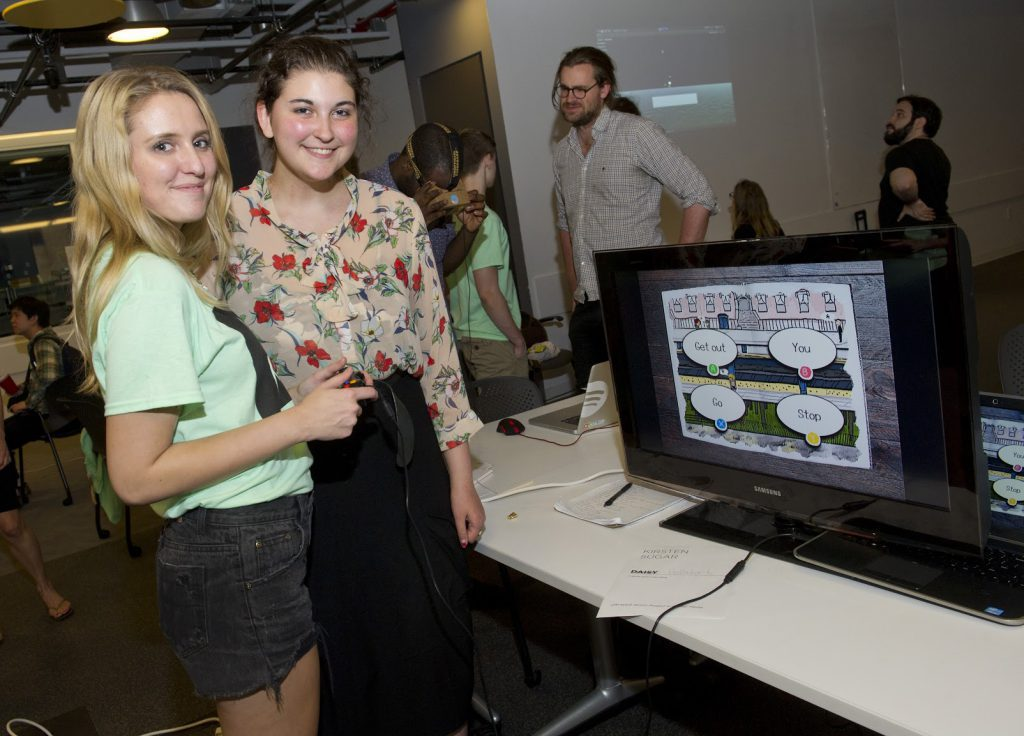 Student Project displayed on a monitor at IDM 2015 showcase
