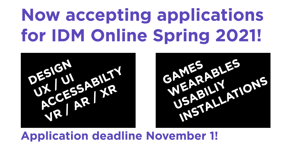 Apply to IDM Online now!